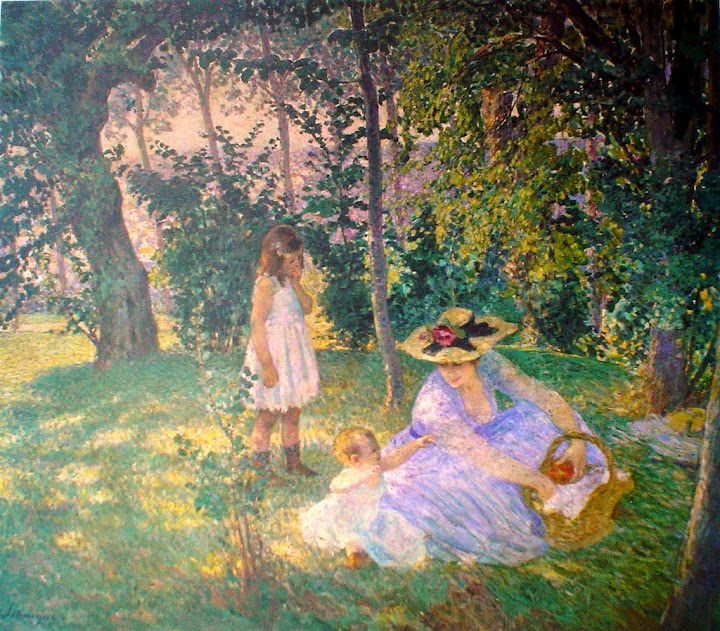 Henri Lebasque - Lunch On The Lawn