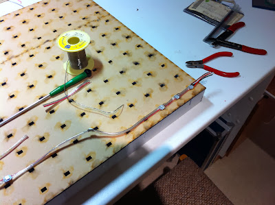 Start of soldering and glueing the 144 WS2812B LEDs