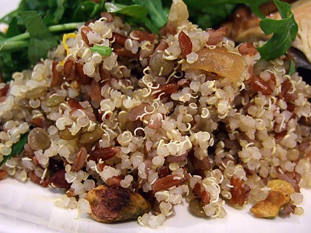 Quinoa, lentils and nuts salad