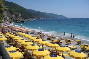 Beach Umbrellas in Cinque Terre