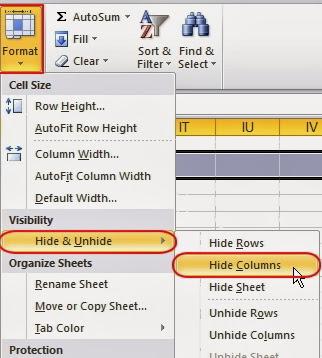 Cara Menyembunyikan Baris dan Kolom di MS.Excel