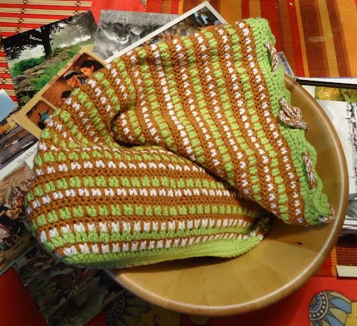 плетена торбичка за хляб на 1 кука