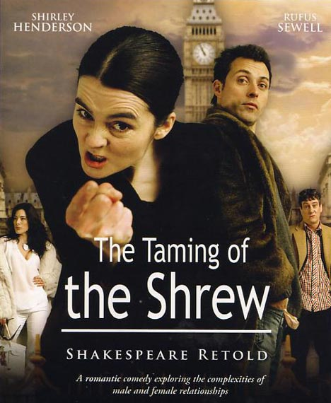 Poster of the BBC series, Shakespeare Retold, Taming of the Shrew