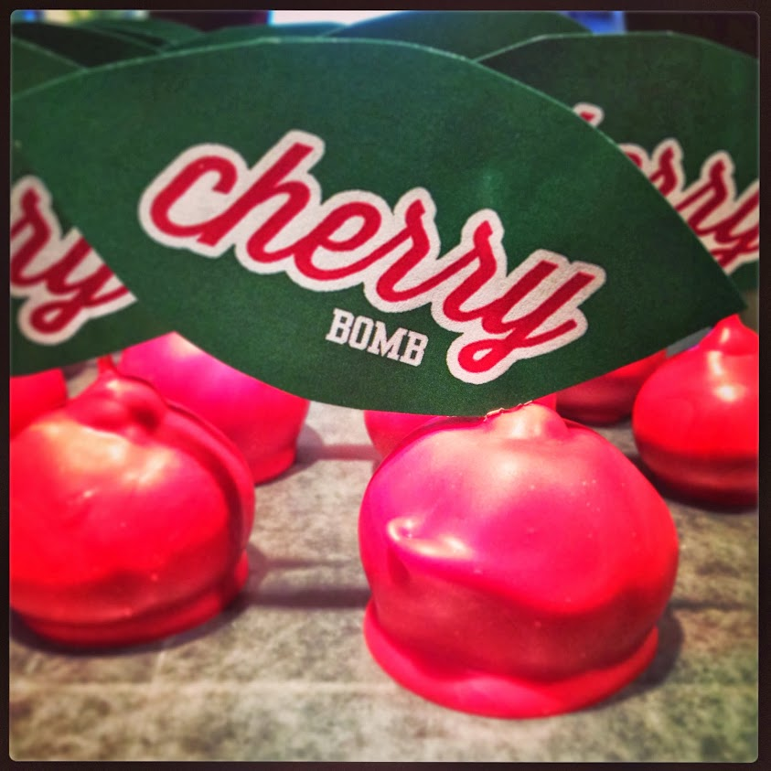 cherry cake bombs