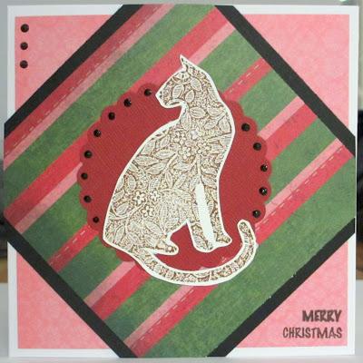 Pinkkivihreä joulukortti