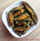 Stuffed okra-Bharli Bhindi