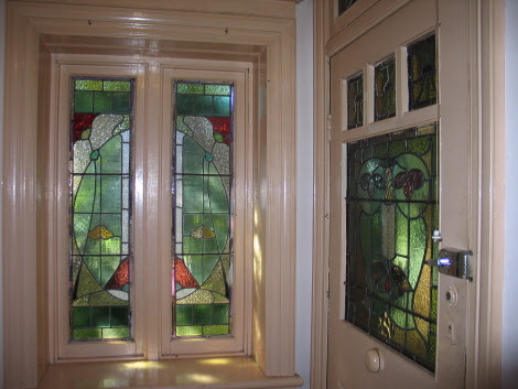 Attractive Art Nouveau Style Leadlight Windows And Door At 26 Yasmar Avenue Haberfield
