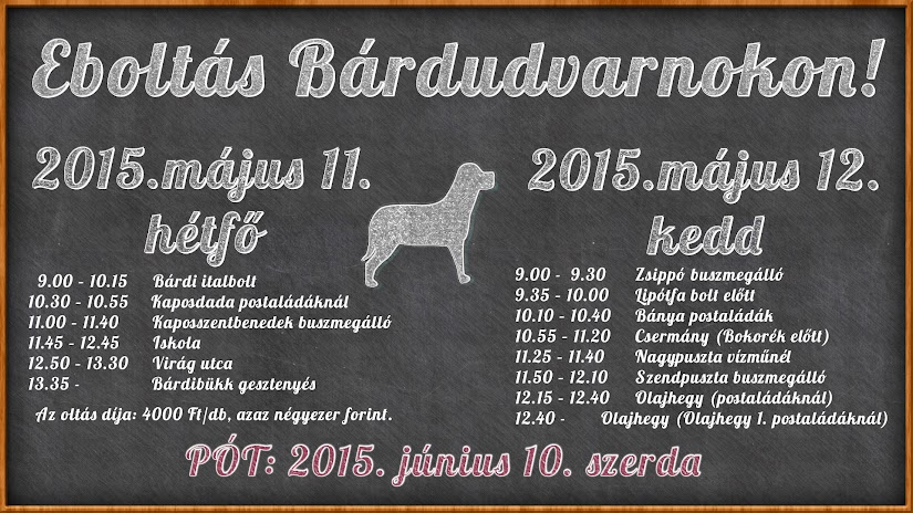Kutyaoltás Bárdudvarnokon 2015 felhívás