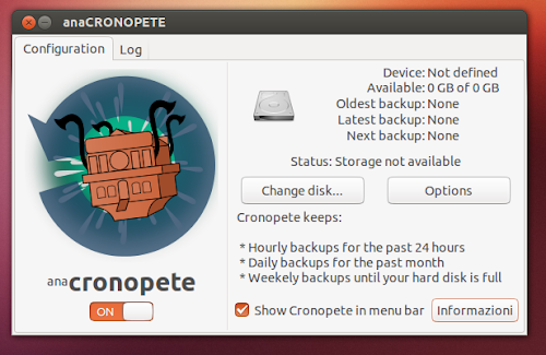 Cronopete 3.4.5 su Ubuntu