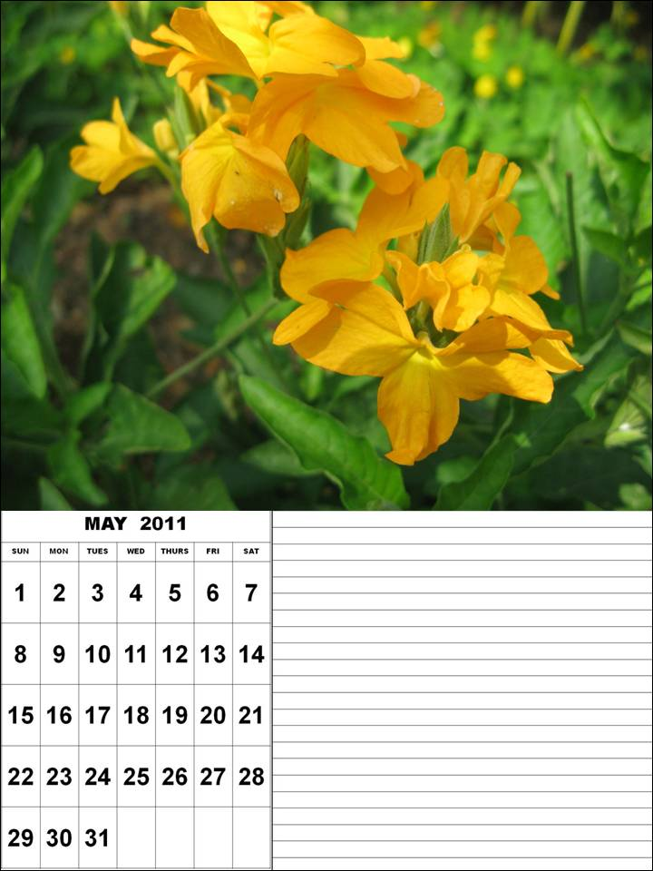 april and may 2011 calendar printable. Printable May 2011 Calendar