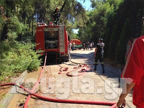 Επιχείρηση κατάσβεσης φωτιάς στην Εκάλη (φωτογραφίες)