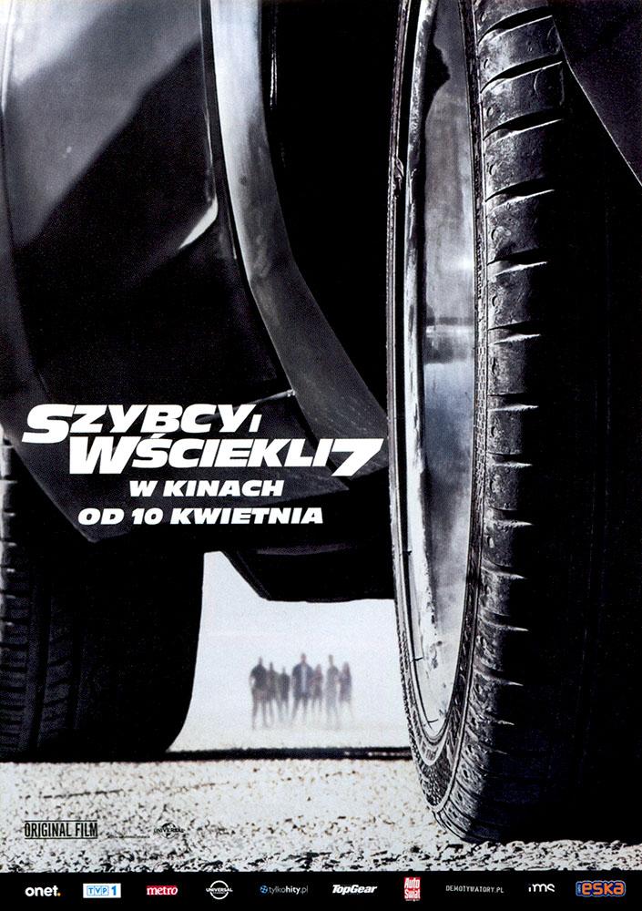 Ulotka filmu 'Szybcy i Wściekli 7 (przód)'