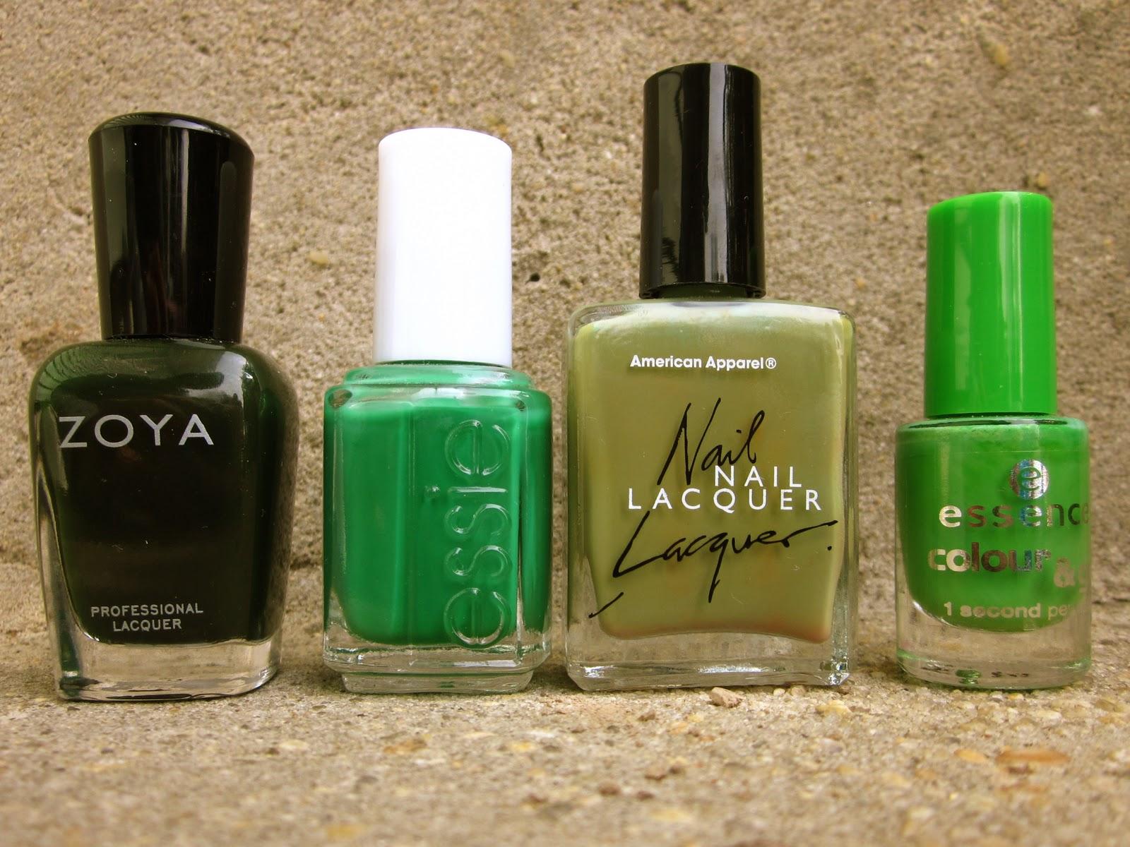 Nails by a Nursing Student: Green Nail Polish Heaven!!!
