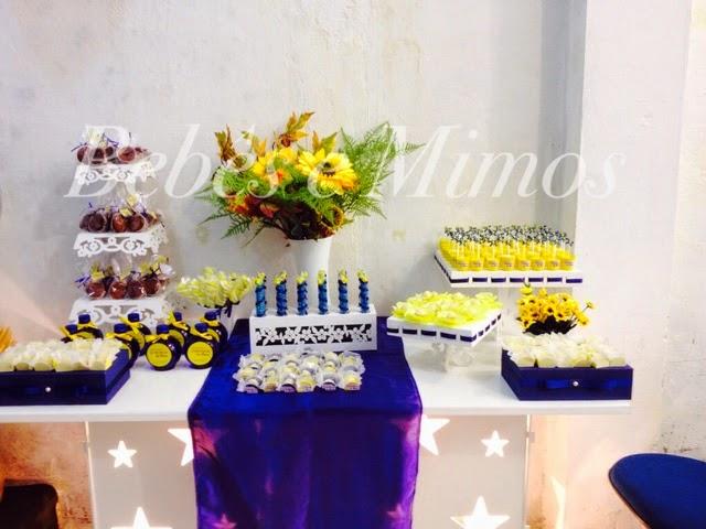decoracao de festa azul marinho e amarelo : decoracao de festa azul marinho e amarelo:Bebês e Mimos Festas: Festa Marinho e Amarelo
