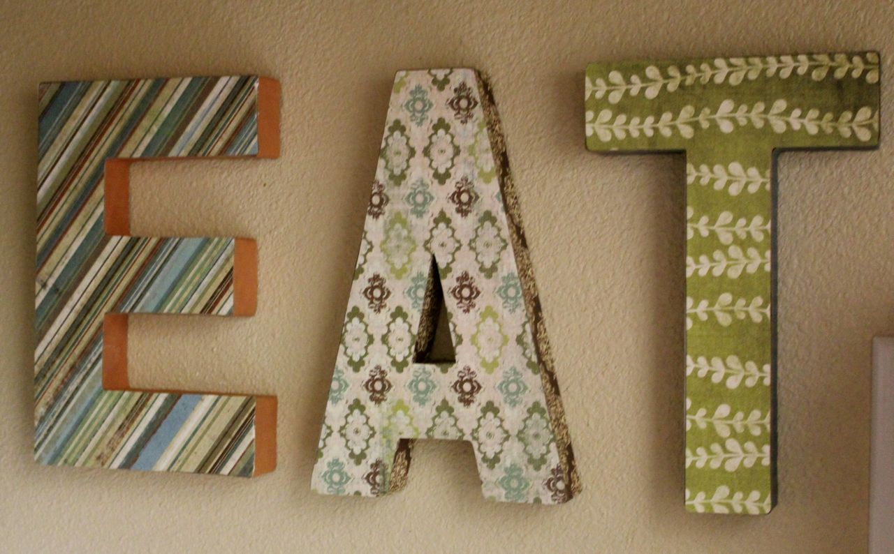 Once I Made The Letters (and Was Very Pleased With My Coordinating Papers),  I Realized The Kitchen Needed More Than A Little Refreshing.