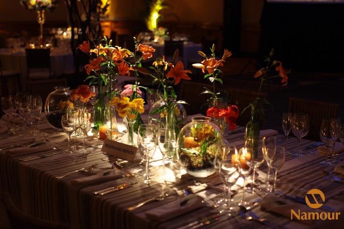 festa Decoração para casamento branco, amarelo e laranja