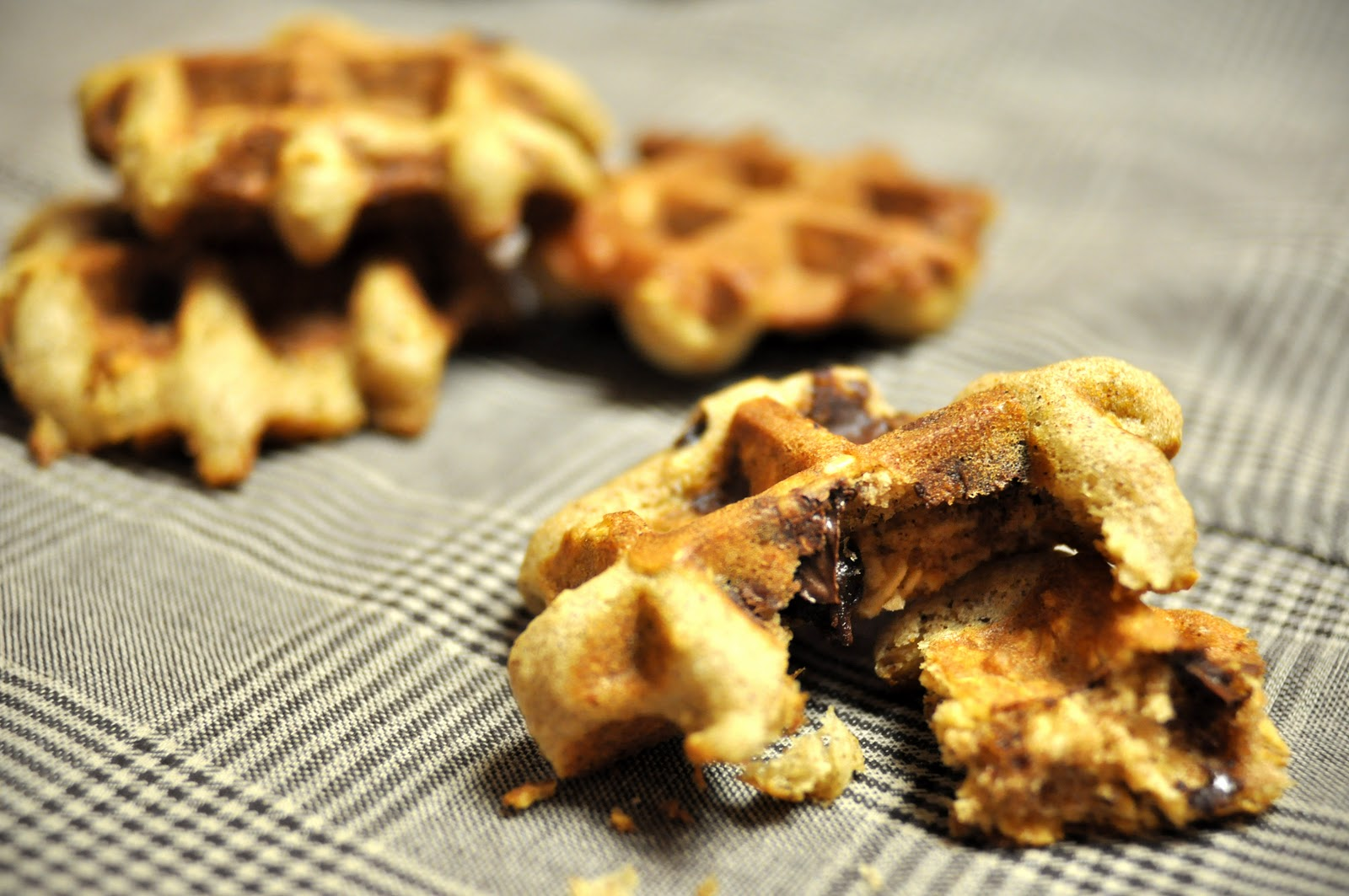 Cardamommy and Coriaunty: Oatmeal Chocolate Chip Waffle ...