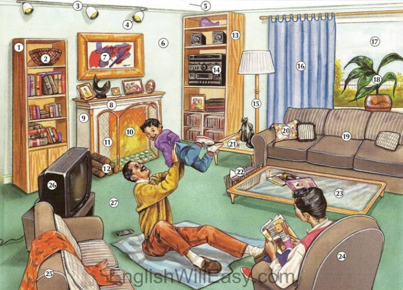 Picture Dictionary: Living Room