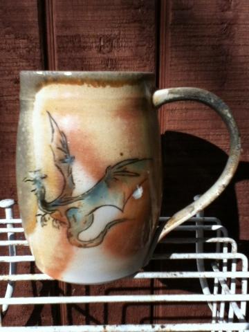 Anagama fired, underglaze pottery - Lori Buff