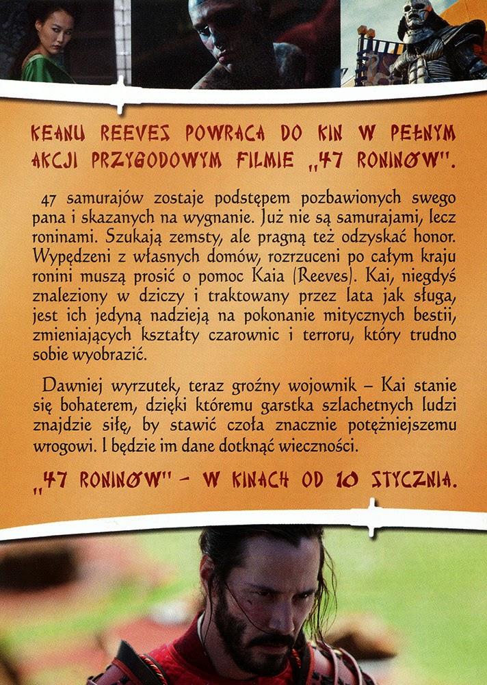 Ulotka filmu '47 Roninów (tył)'