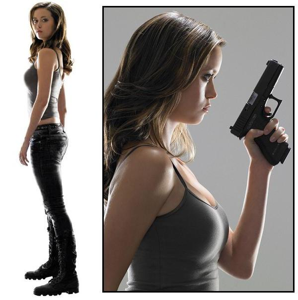 Summer Glau as Cameron in Terminator : The sarah Connor Chronicles.