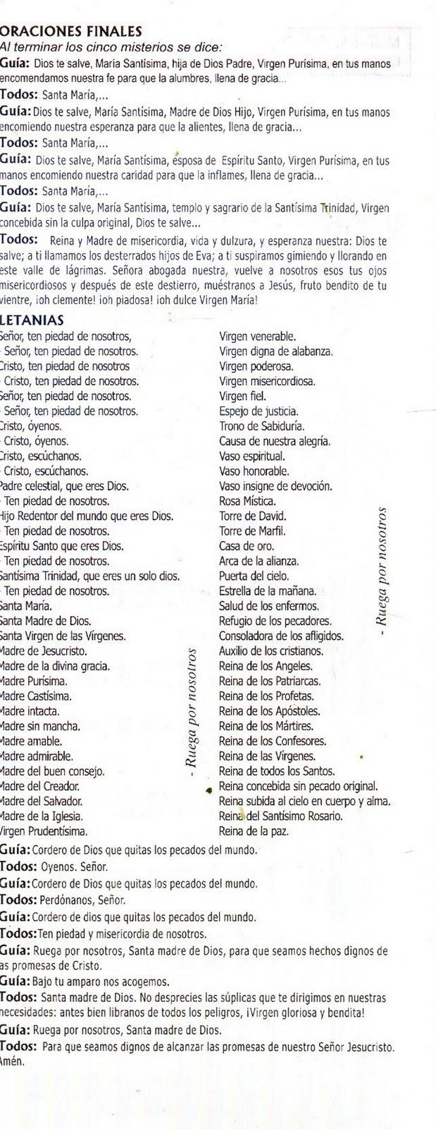letanias santo:
