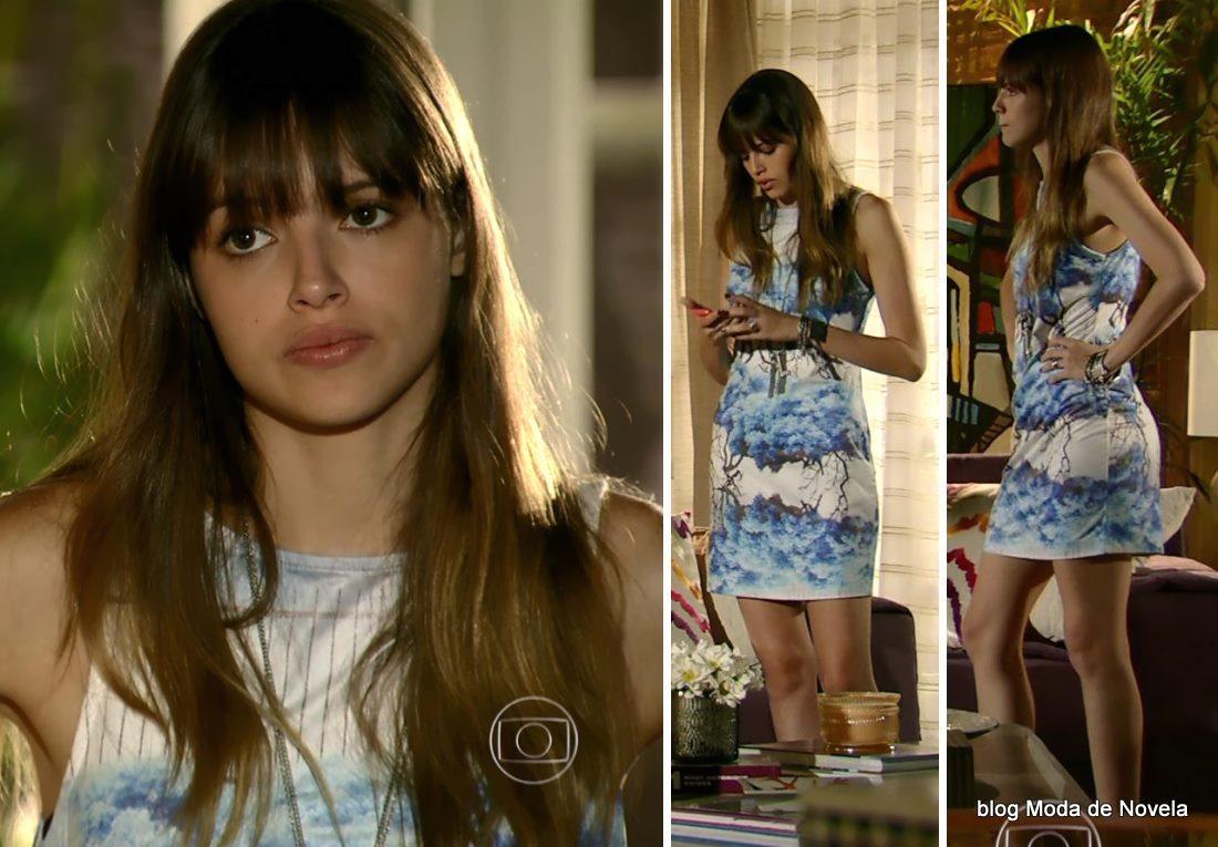 look da Gisele na novela Em Família