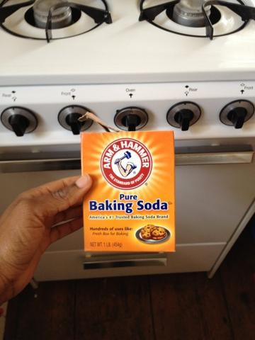 baking soda oven schoon
