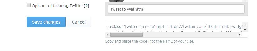 Twitter Widget Code