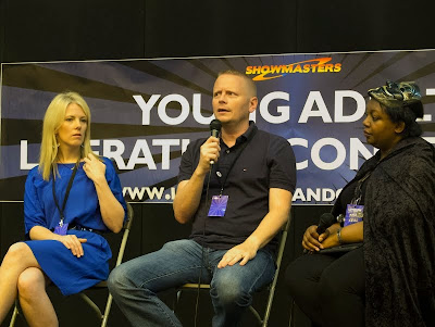 Malorie Blackman, Sarah Crossan and Patrick Ness at London YA Lit Con (YALC)