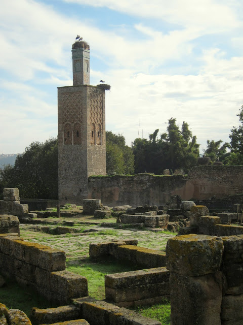 The tower prayer of Chellah, Rabat