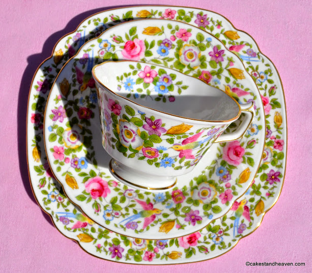 Royal Crown Derby Teacup Trio c.1939