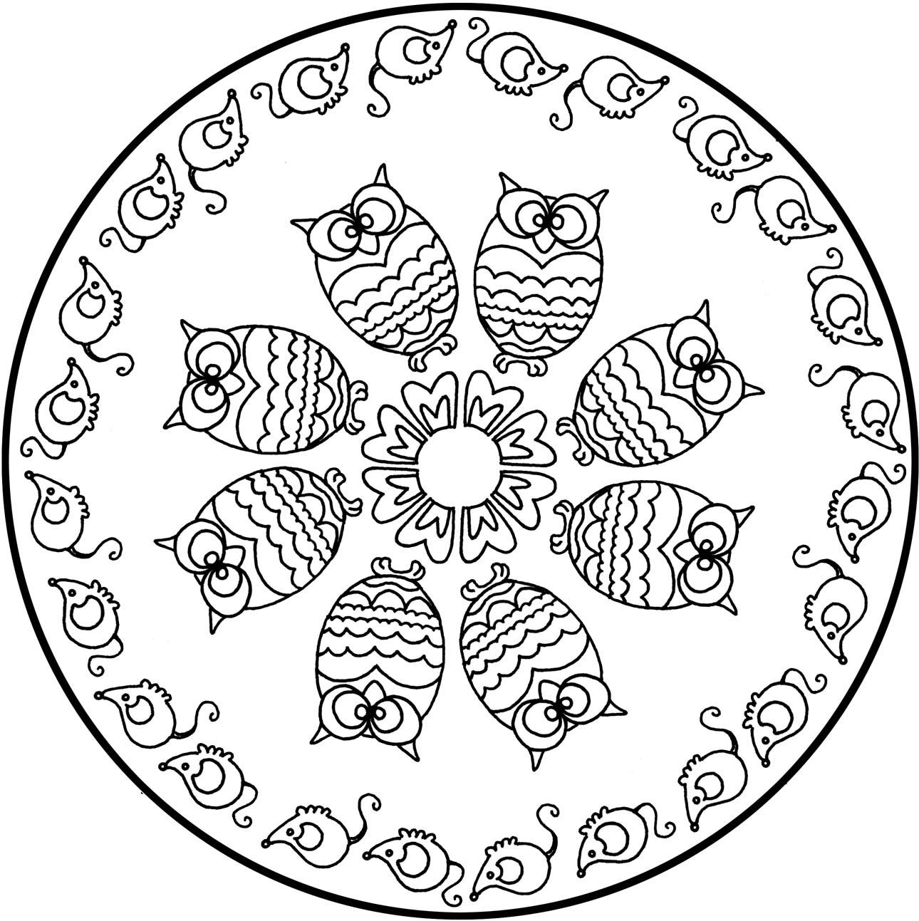 Mandala Facile A Colorier