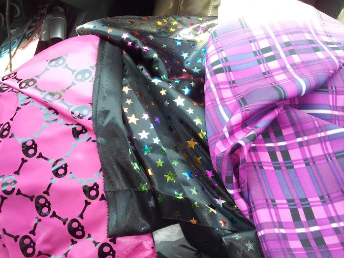 Three funky fabrics on deep discount