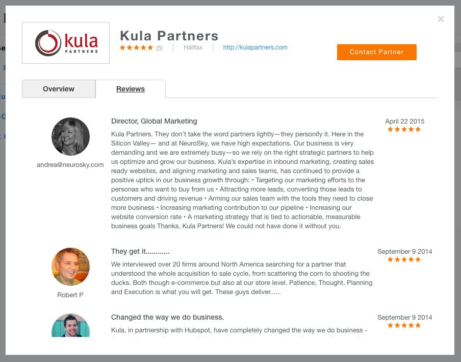 hubspot partner directory kula partners
