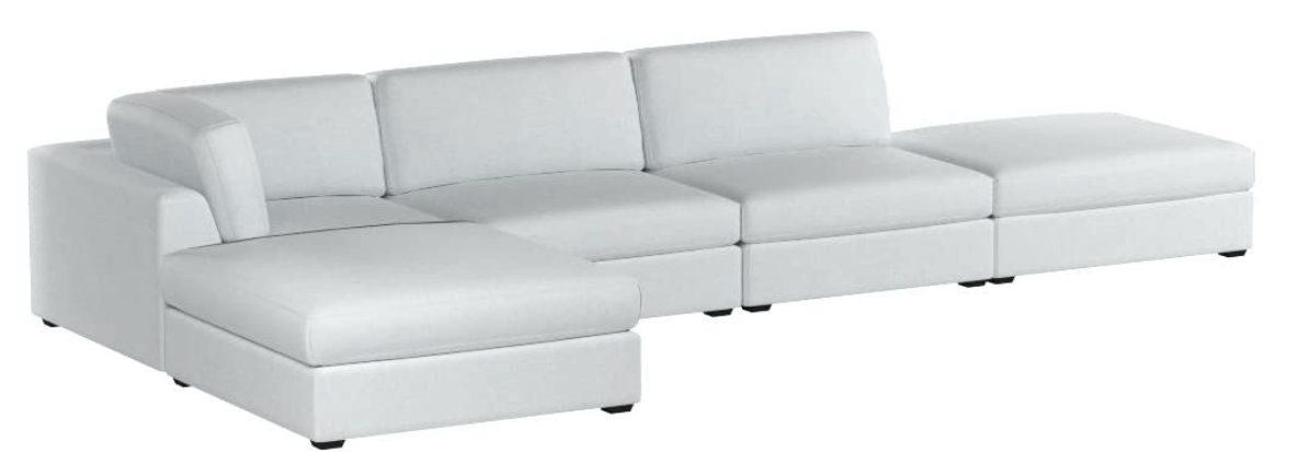 reed 5 piece sectional cloud couch amazon dupes