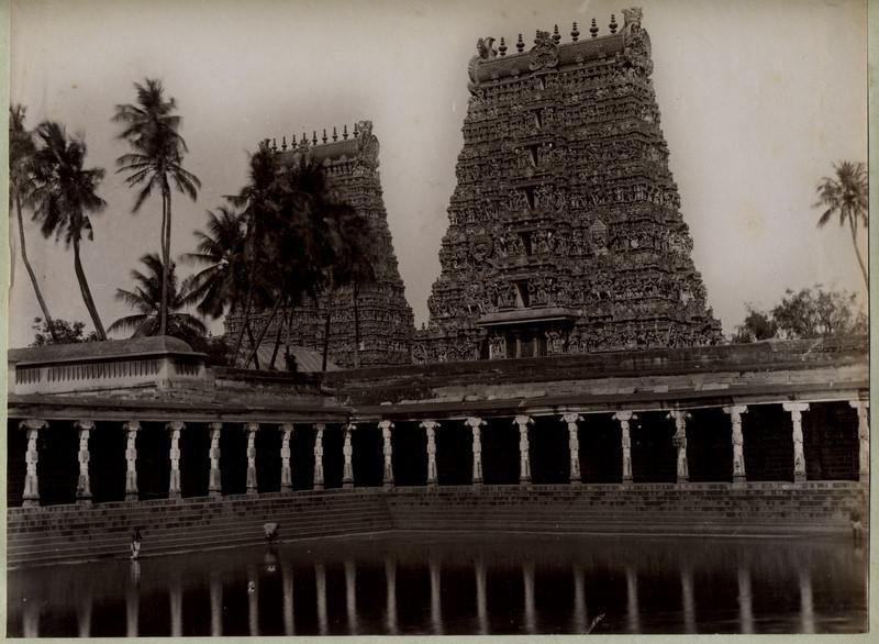 Meenakshi Amman Temple - Madurai Tamil Nadu - 1890's