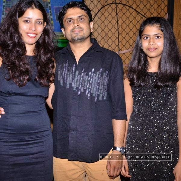 Deepa, Vijay and Anushka during an event called A New Perspective on Creativity, held at Le Meridien in Bangalore. <br /> <br />