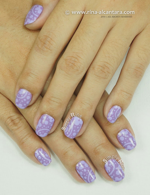 Can't Get Enough of Lavender Nail Art Design by Simply Rins