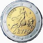 Zwei-Euro-Münze mit Europa und Stier, 2002.