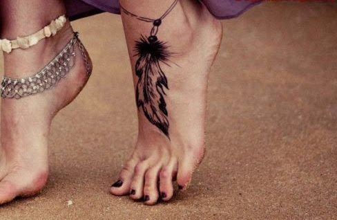 Mehndi Tattoo Peacock Feather : 50 best feather tattoo designs and ideas