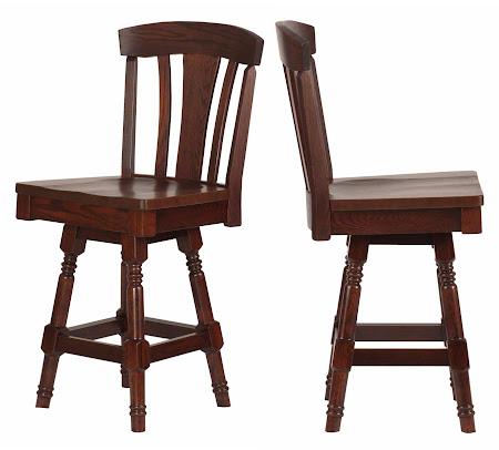 Marseille Swivel Seat Barstool in Frontier Oak