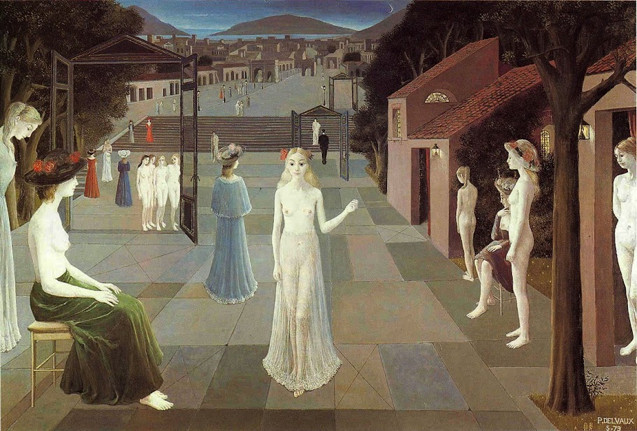 Paul Delvaux - The Way to Rome, Belgium 1979