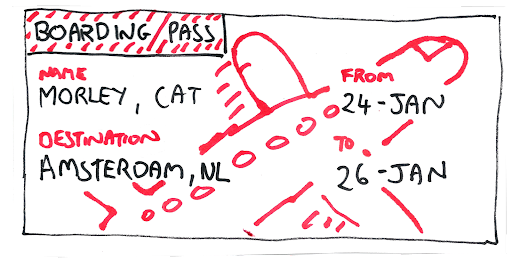 DIY Boarding Pass from Tom