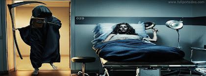 Portada para facebook de Muerte visita a paciente enferma