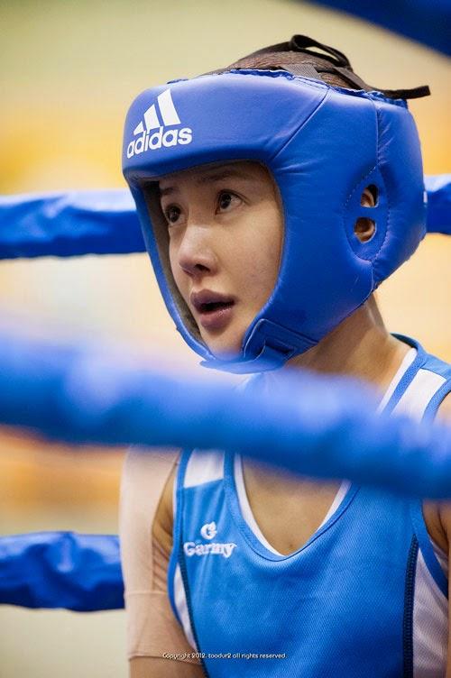 Ngắm mỹ nhân quyền anh xinh đẹp của xứ Hàn