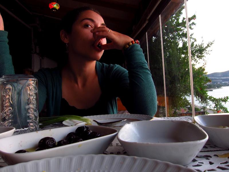 Eating olives