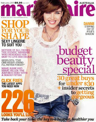 Dannii Minogue Marie Claire Australia February 2011
