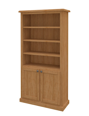 York Wooden Door Bookshelf in Calhoun Maple