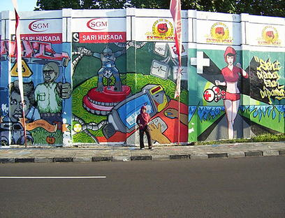 Akas industrial engineering seni lukis dinding seni for Mural yogyakarta